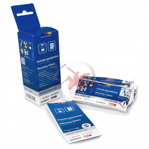 Антинакипин в таблетках для кофемашин 00311864/ 00311556/ 00310967 TCZ6002 Bosch Siemens Gaggenau Neff