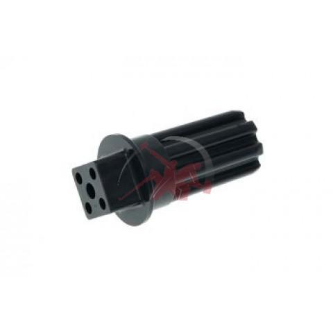 Соединение/хвостовик пластиковый BR67002718 к шнеку мясорубки Браун Braun