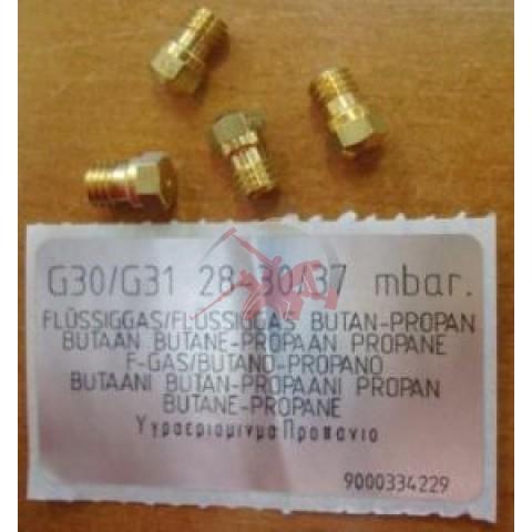 Форсунки для жидкого газа (G30/ 30mbar) 425367=424220 Bosch